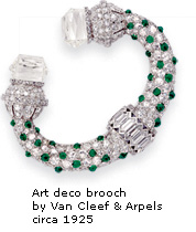 art deco bracelet by Van Cleef & Arpels circa 1925