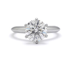 Round diamond ring, 2.32 carats, G/VS1