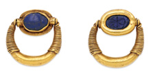 Egyptian lapis and 22-karat gold ring, circa 1400 BC