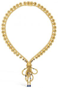 6252403cc Sapphire and Gold Necklace, Boucheron. Sold at Dupuis Fall 2016 Important  Jewels auction for $13,000.